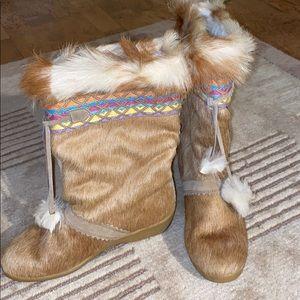 Tecnica Fur Après Ski Tan Boots Size 8